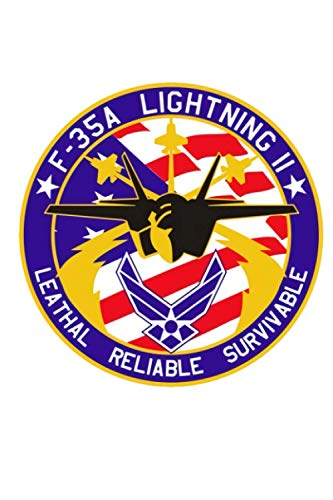 F-35 Lightning Notebook: (110 Pages, Lined, 6 x 9) 1