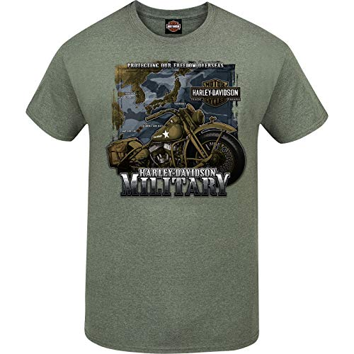 Harley-Davidson Military - Men's Military Green Graphic T-Shirt - Tour of Duty Pacific 1
