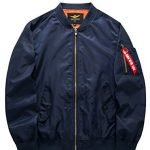 MatchLife Hommes Design NASA, Armee Americaine Et Air Force One Jacket Pilotes Sports Loisirs Col V Collier Style Bomber… 3