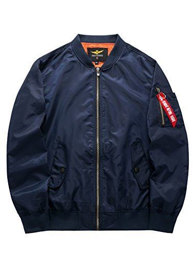 MatchLife Hommes Design NASA, Armee Americaine Et Air Force One Jacket Pilotes Sports Loisirs Col V Collier Style Bomber… 1