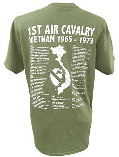 The Wooden Model Company Ltd T-shirt 1st Air Cavalry Division US Army Vietnam War Military avec motif Air Cav et… 3