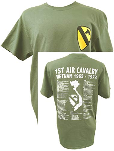 The Wooden Model Company Ltd T-shirt 1st Air Cavalry Division US Army Vietnam War Military avec motif Air Cav et… 1