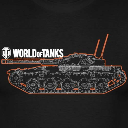 Spreadshirt World of Tanks Char Contour T-Shirt Homme 2