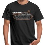 Spreadshirt World of Tanks Char Contour T-Shirt Homme 6