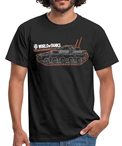Spreadshirt World of Tanks Char Contour T-Shirt Homme 1